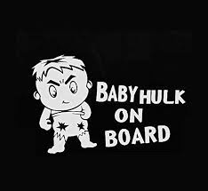 Baby Hulk On Board Car Decal Sticker 6x8 Buy Online In Aruba At Desertcart