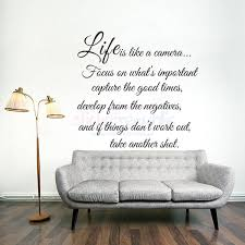 Sticker Republic Words Quotes Life Is Like A Camera Words And Quotes Wall Sticker