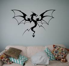 Medieval Dragon Vinyl Decal Monster Wall Sticker Gothic Home Etsy