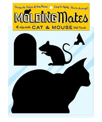 Molding Mates Cat And Mouse 4 Molding Mates Home Decor Peel And Stick Vinyl Wall Decal Stickers Hristy R Cramerey