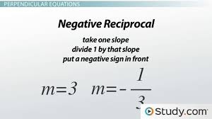 perpendicular lines in linear equations