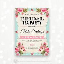 bridal tea party invite