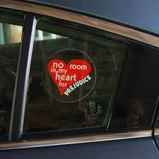 No Room In My Heart For Prejudice Window Decal Baha I Resources