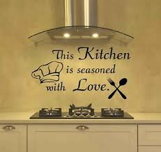 This Kitchen Is Seasoned With Love Love Wall Stickers Art Dining Room Decals Diy Ebay