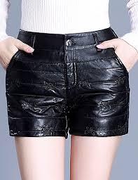 basic plus size skinny shorts pants