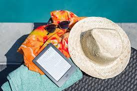 swimming pool, ebook, sunglasses, sun, summer, reading, kobo, hat ...