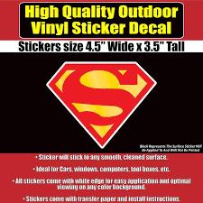 Superman Comic S Shield Vinyl Car Window Multi Use Bumper Sticker Deca Colorado Sticker