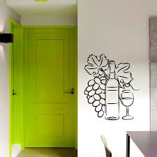Grapes Wine Glass Goblet Pattern Wall Decal Interior Kitchen Vinyl Wall Stickers For Livingroom Modern Design Home Decor Wall Decals Home Decor Wall Decals Kids From Onlinegame 12 12 Dhgate Com