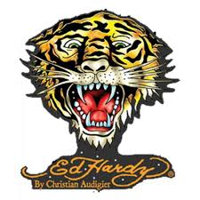 Ed Hardy Car Vinyl Sticker Tiger Cling Bling Small