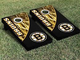 Boston Bruins Hockey Cornhole Board Game Vinyl Decal Sticker Wrap Set Cornhole Decals Boston Bruins Hockey Cornhole Boards