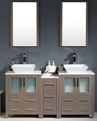 modern double sink bathroom vanity w