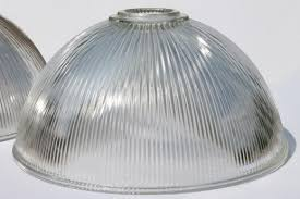 ribbed glass industrial pendant light