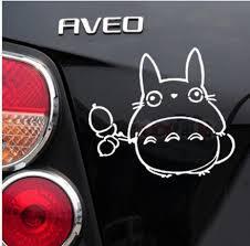 Fun Car Decal Sticker Of Cute Totoro Ghibli For Car Window Light Reflection Ebay Car Decals Car Window Car Decals Stickers