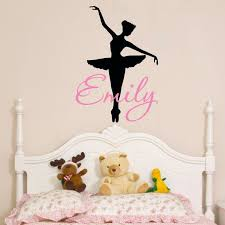Ballerina Wall Decal Dance Wall Decal Personalized Girls Etsy Dance Wall Decal Wall Decals Name Wall Decals