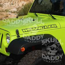 Jeep Wrangler Hood Factory Outline Stickers Vinyl Decals Jk Tj Yj Cj Pair Jeep Stickers Custom Vinyl Stickers Custom Jeep Wrangler