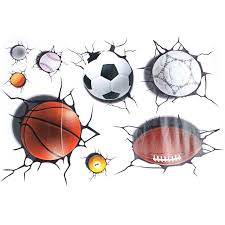 3d Football Basketball Crack Decal Wall Sticker Mural Boys Room Decor Decorative Stickers For Walls Decorative Vinyl Wall Decals From Hilery 36 31 Dhgate Com