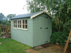 Cuprinol Willow And Cream Painted Garden Sheds Timber Garden Sheds Garden Shed