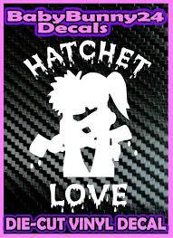 Hatchetman Icp Vinyl Decal Insane Clown Posse Sticker Hatchet Love Car Truck Vinyl Decals Insane Clown Posse Vinyl