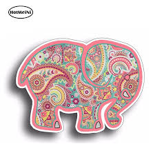 Hotmeini 13cm X 9 7cm Pink Elephant Paisley Sticker Car Cup Tumbler Decal Bumper Laptop Girl Girly Waterproof Car Stickers Car Stickers Aliexpress