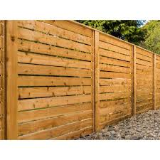 Alta Forest Products 5 8 In X 6 In X 7 Ft Western Red Cedar Flat Top Fence Picket 63038 The Home Depot