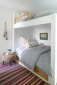 White Bunk Bed With Rope Bedside Table Cottage Boy S Room