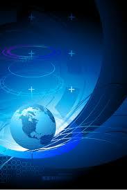 خلفية زرقاء الأرض الرقمية الخلفية التقنية الإنترنت المالية