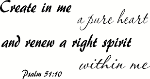 Amazon Com Creation Vinyls Psalm 51 10 Wall Art Create In Me A Pure Heart And Renew A Right Spirit Within Me Home Kitchen