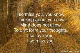 thinking of you message for him