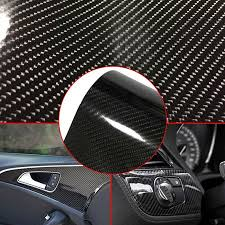 6d High Gloss Smooth Car Carbon Fiber Style Vinyl Decal Film Sticker Bubble Free Walmart Canada