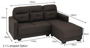 marcella fabric l shaped sofa
