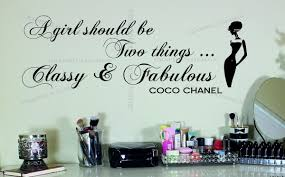 Large Coco Chanel Quote Classy And Fabulous Vinyl Wall Sticker Decal Bedroom Ebay