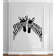 Shop Zebra Wall Decals Animals Jungle Safari African Vinyl Decal Sticker Home Interior Sticker Decal Size 22x26 Color Black Overstock 14049046