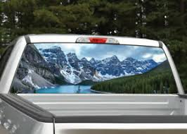 Mountain Scene 5 Lake Landscape Rear Window Decal Graphic Truck Suv Ebay