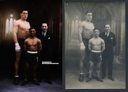 1928 Primo Carnera & Young Siki Portrait Colorized : Boxing