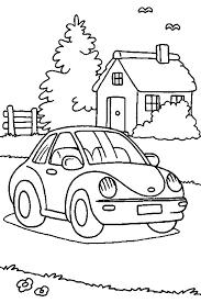 Kids N Fun Kleurplaat Auto Auto