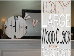 Two It Yourself Large Diy Wood Clock From Fence Posts Or Pallet Wood