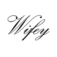 Wifey Cursive Word Wife Vinyl Sticker Car Decal