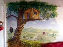 Modern Tree House Wall Mural Wall Murals Wall Murals Painted Mural