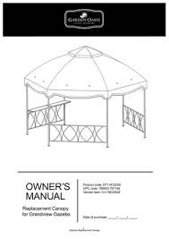 replacement canopy for clayton gazebo