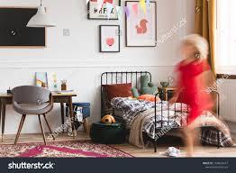 Unisex Kids Room Retro Furniture Artworks Stock Photo Edit Now 1389638477