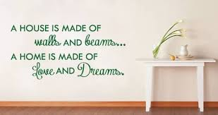 House And Home Quote Wall Decal Dezign With A Z