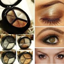 smoky eyeshadow makeup set 3 colors