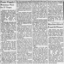 Foster Reunion - Newspapers.com