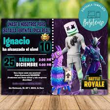 Plantilla Imprimible De Fiesta Virtual De Dj Marshmello Fortnite