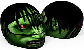 Amazon Com Skullskins The Hulk Motorcycle Helmet Cover And Visor Sticker Decal Agressive Rider Automotive