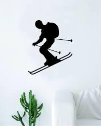 Skiing Wall Decal Sticker Vinyl Art Bedroom Room Home Decor Teen Baby Boop Decals