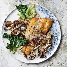 Fish with Creamy Wild Mushrooms Recipe ...