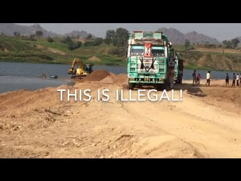 """Image result for Sand workers protest against illegal sand mining in Allahabad"""""""