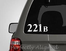 Car Decal Sherlock Holmes 221b Car Decal Etsy