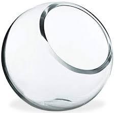 cys excel glass slant cut bubble bowl